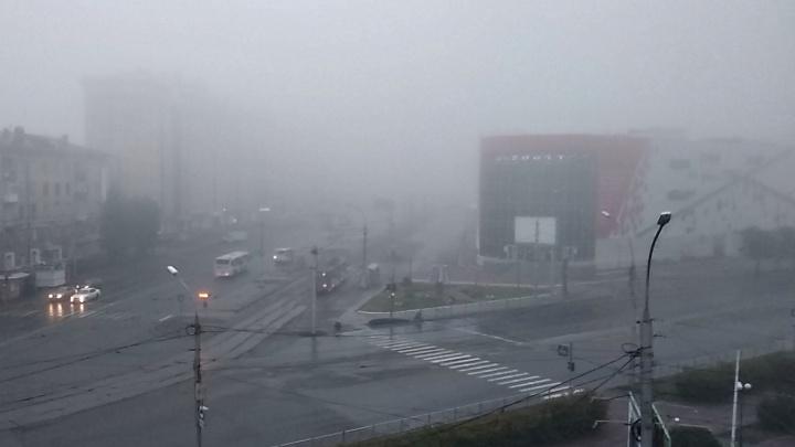 На Новосибирск спустился обширный высотный циклон: синоптики объяснили природу утреннего тумана