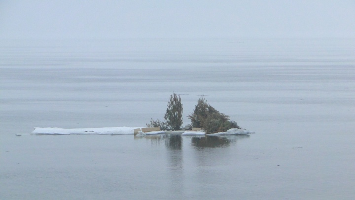 В Самаре от берега оторвалась прорубь местных «моржей»