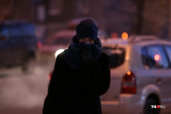 К 7 утра столбики термометров в Челябинске опустились до отметки в -29 °С