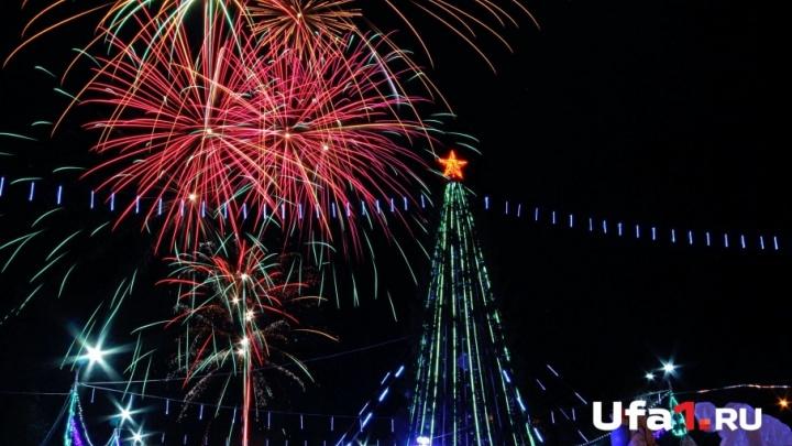 Полюбоваться новогодним салютом у главной городской елки пришли 15 тысяч человек