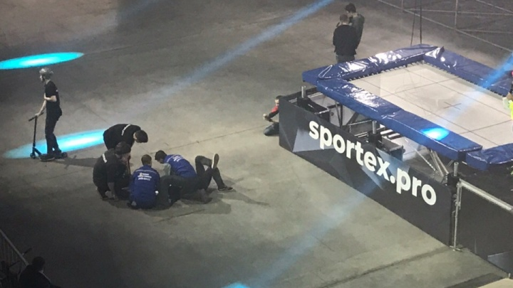 Экстремал получил травмы при исполнении двойного сальто на велосипеде в «Спортэксе»
