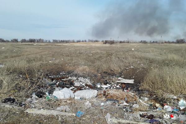 Пойма превращается в свалку отходов, которые жители выбрасывают не имея возможности воспользоваться услугами регоператора