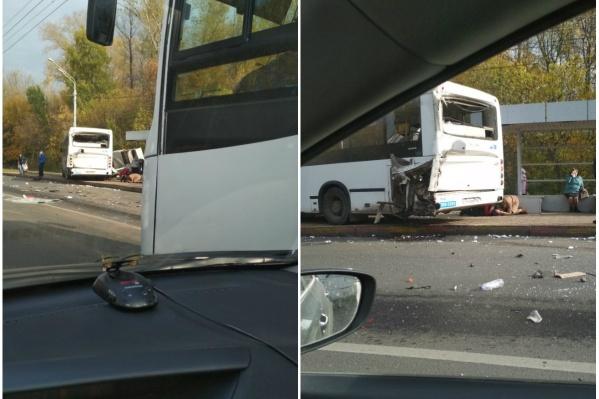 Авария произошла у парка Калинина