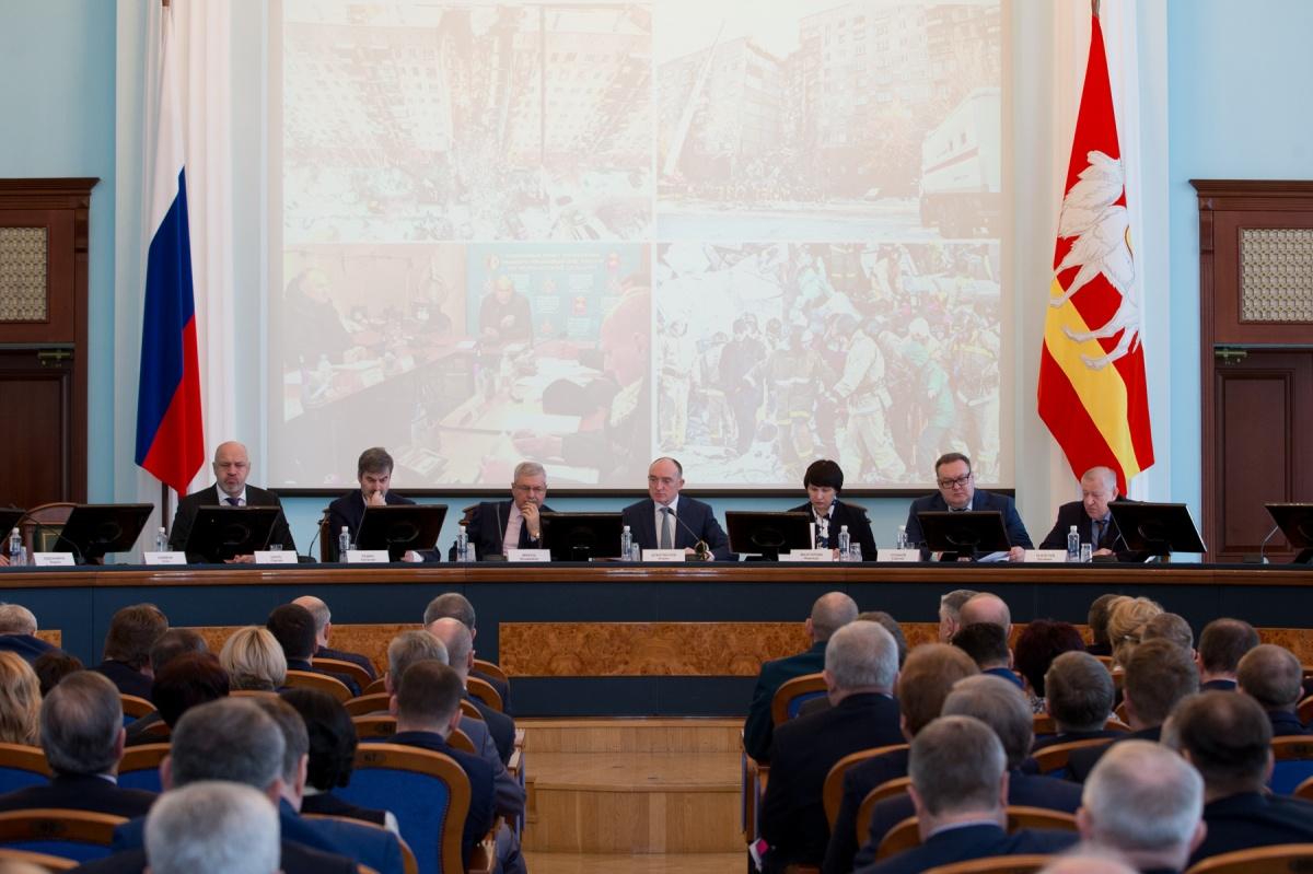 Обращение губернатора сопроводили кадрами с места взрыва