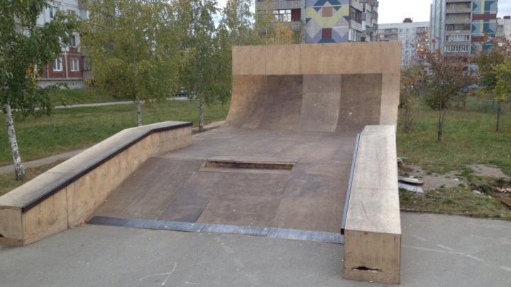 Пожар уничтожил часть скейт-парка на «Родниках» в Новосибирске