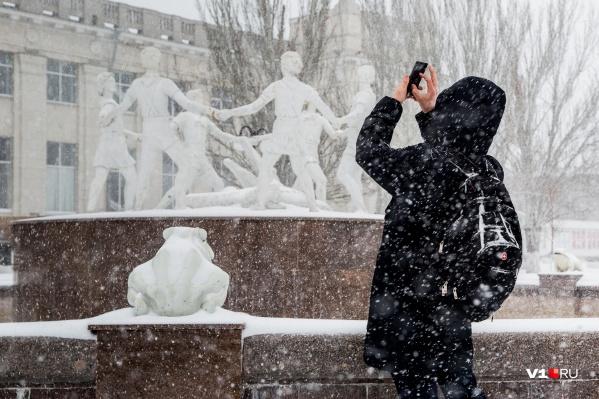 Снега волгоградцы ждали почти два месяца