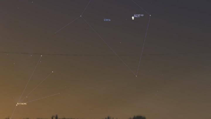 Жители Башкирии смогут увидеть сближение Марса и Юпитера