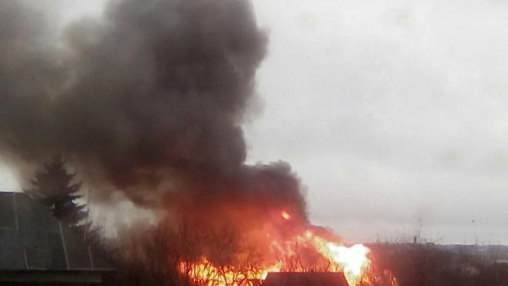 При пожаре в Башкирии пострадала семейная пара