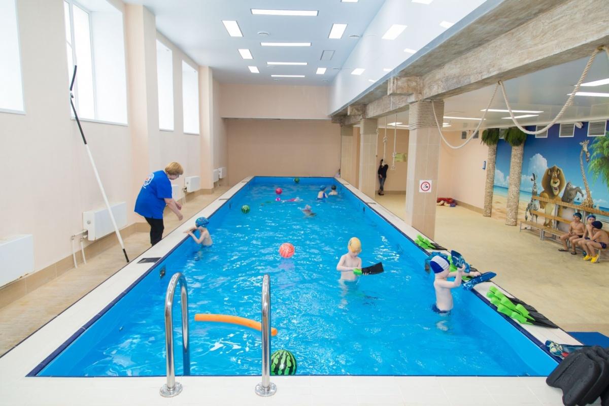 Дети до семи лет занимаются в отдельном малом бассейне «Юнга»