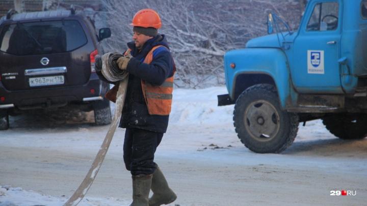 Дома без света и целые улицы без воды: кого в Архангельске сегодня затронут коммунальные ремонты