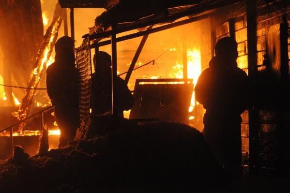 Возгорание произошло в одной из комнат одноэтажного дома