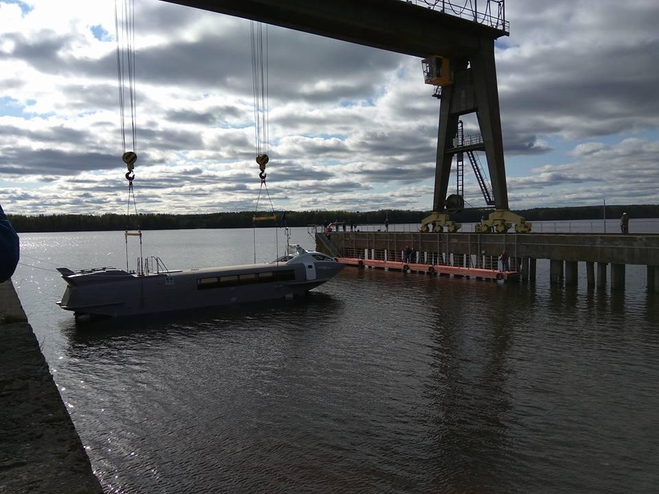 ВНижегородской области спустили наводу первое судно наподводных крыльях