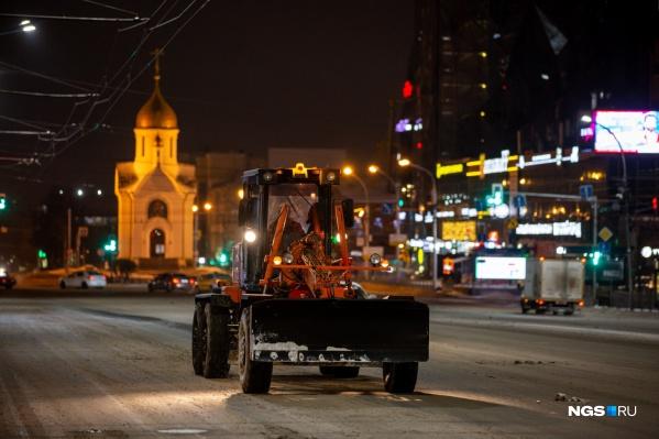 Первый снегопад обрушился на город в минувший вторник