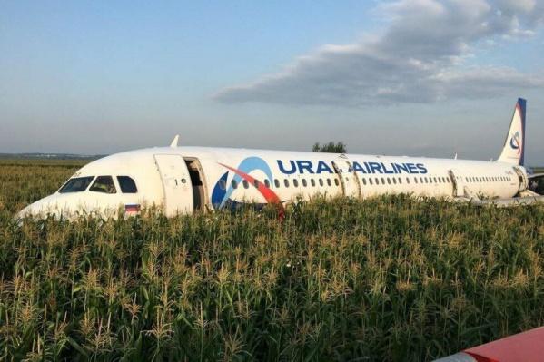 Пилотам пришлось посадить самолёт в поле после того, как у него отказали оба двигателя