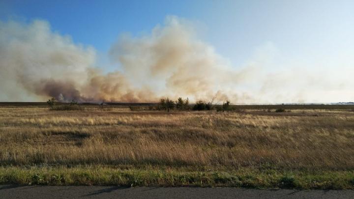 «Пока угрозы населённым пунктам нет»: под Волгоградом борются со степными пожарами