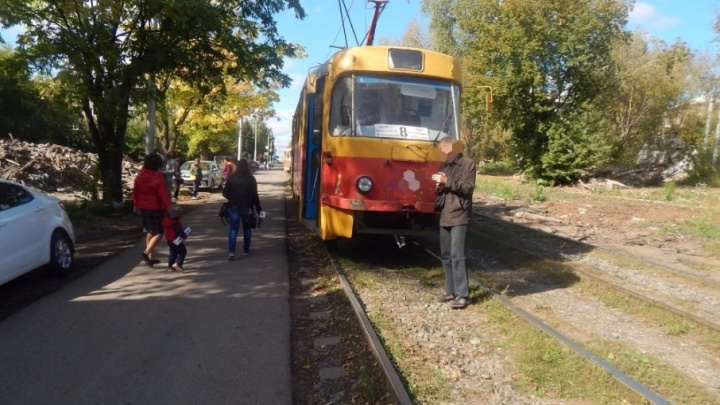 В Уфе трамвай сбил шестилетнего мальчика