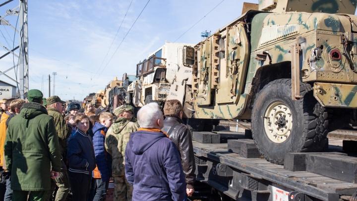 В Ярославль привезли трофейное оружие из Сирии: фоторепортаж