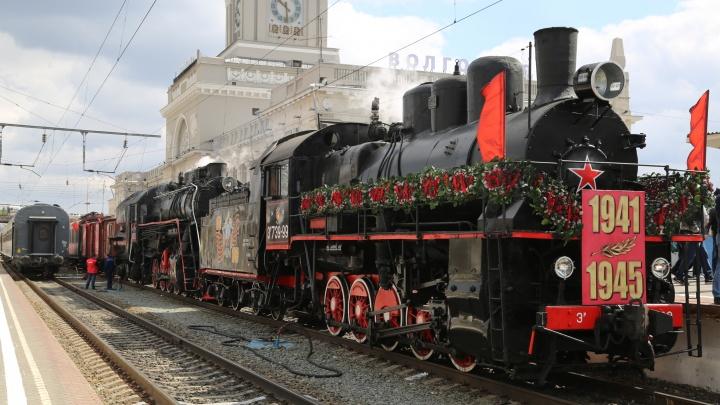 В Волгоградскую область 12 апреля прибудет ретропоезд «Воинский эшелон»