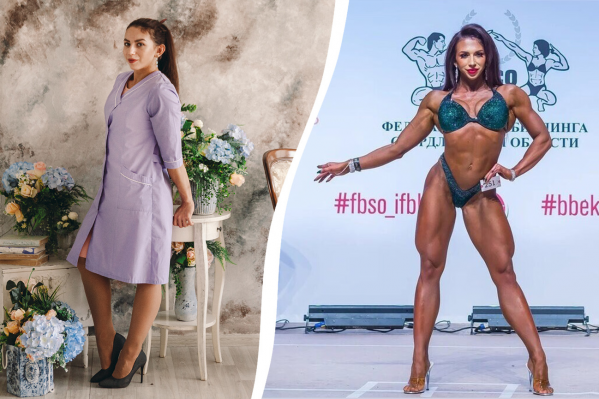 24-летняя тюменка Арина Михайлова днем работает воспитателем, а вечером — в спортзале