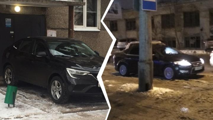 «Рено» в подъезде и сбитый пешеход: самарские автохамы активизировались
