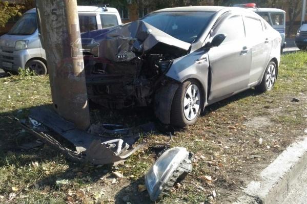 Авария на улице Чайковского произошла около 9 утра в субботу, 12 октября