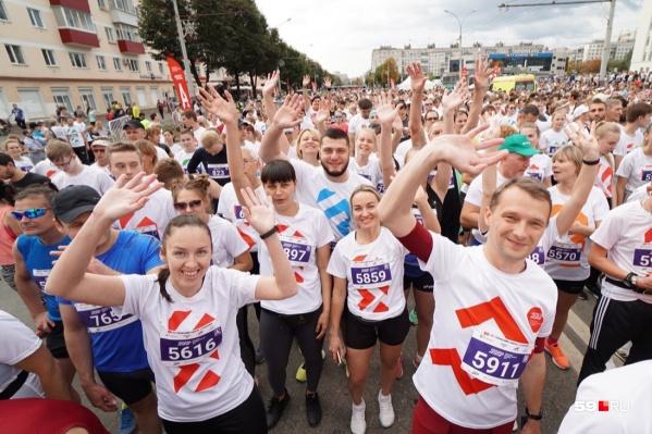 Пермь и ее гости готовятся к массовому забегу на пять километров. Марафон продолжается!<br>&nbsp;