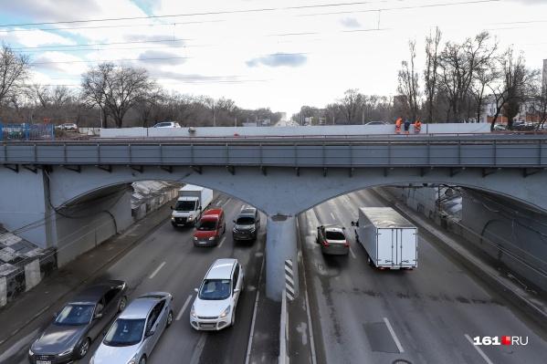 Движение было закрыто из-за ремонта путепровода