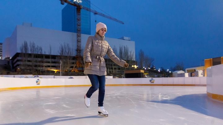 «Эх, прокачусь!»: в Волгограде мороз реанимировал городские катки