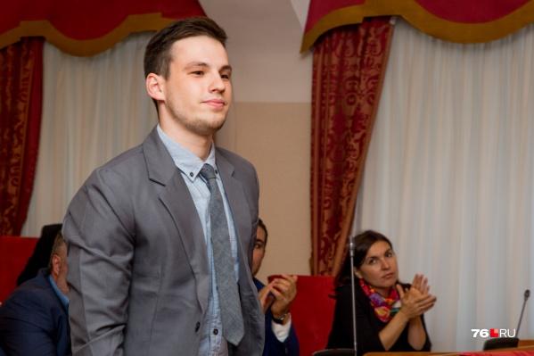 Артём Денисов стал самым молодым депутатом Ярославской областной думы седьмого созыва