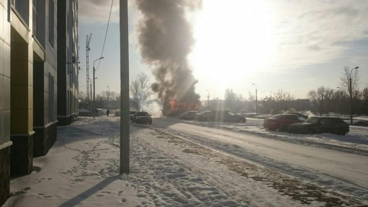 На заводе ПАЗ рассказали, почему в Уфе загорелась маршрутка