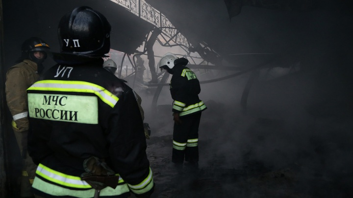 Под Уфой произошел крупный пожар