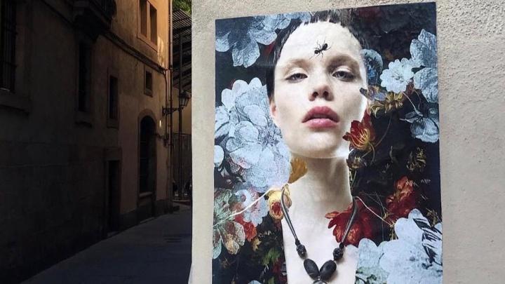 На улицах Милана заметили постер с портретом популярной модели из Красноярска