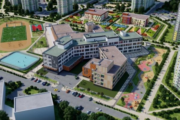 Так будет выглядеть школа, которую планируют построить в Академическом