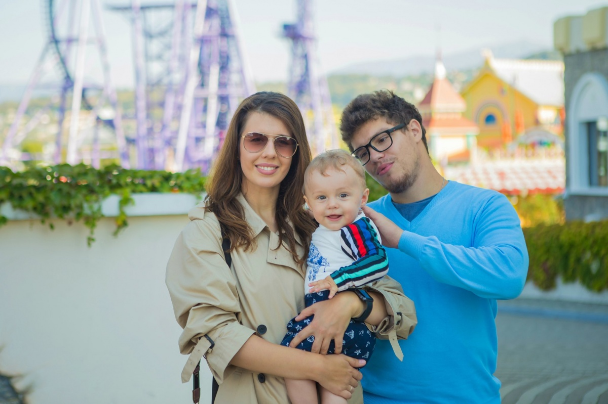 Семья Немцовых: Антон, его жена Анна и Борис Антонович