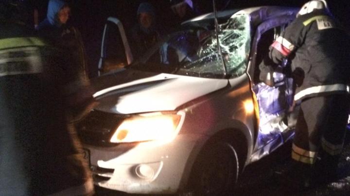 У «Миловского парка» столкнулись Lada Granta и Renault, погиб водитель отечественной легковушки