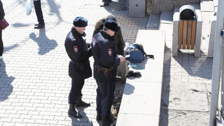 Подозрительного мужчину с сумкой задержали в районе «КрасТЭЦ»