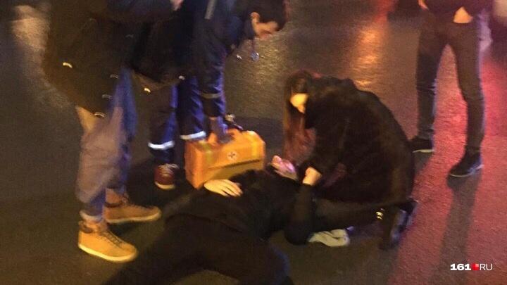 На Западном «Мерседес» сбил пешехода