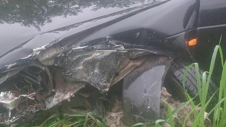 Серьезная авария в Уфе: водитель Lada влетел в Daewoo Nexia