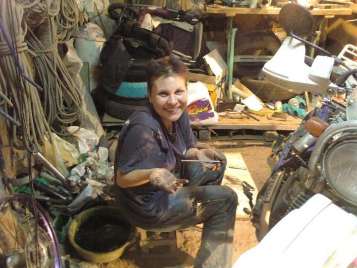 Свой первый мотоцикл Надя купила в 25 лет. Продала для этого подаренную отцом старенькую отечественную легковушку