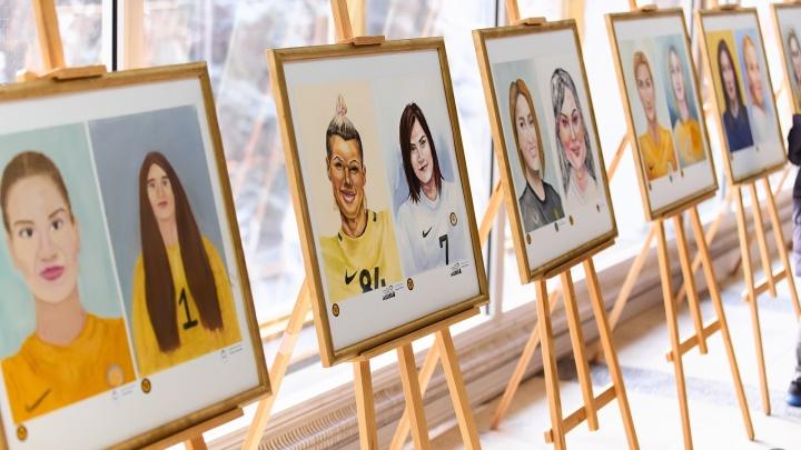 Центр Ростова украсят детскими портретами гандболисток «Ростов-Дона». Смотрим очаровательные рисунки