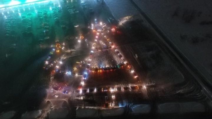 Автолюбители построят машинами огромную ёлку у «Волгоград Арены»