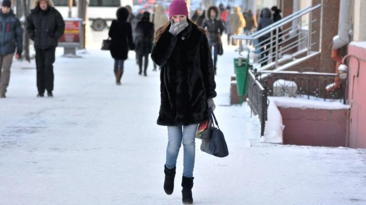 После морозного Рождества в Екатеринбурге потеплеет