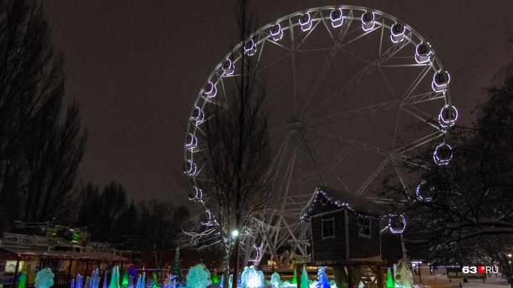 «Оно великолепно»: смотрим вечерние фото «чертова колеса»