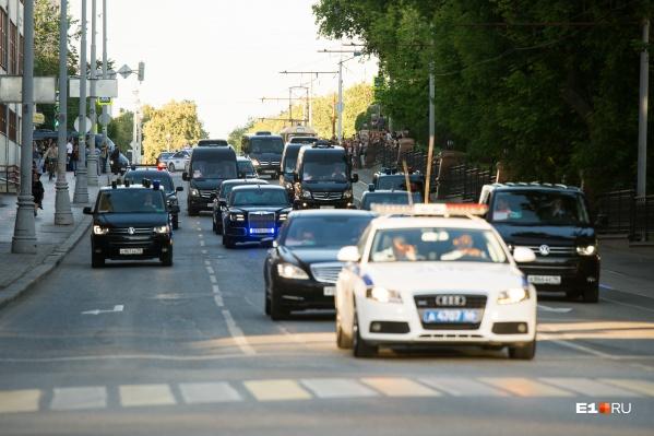 Путин приезжал в Екатеринбург 9 июля