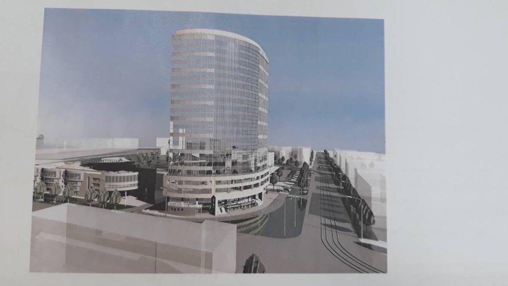 Вот так здание будет выглядеть в будущем