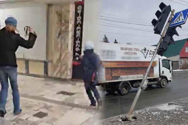 Главные новости недели в одной картинке — женщина с девочкой на привязи и ветер, который принес снег и массовые ЧП