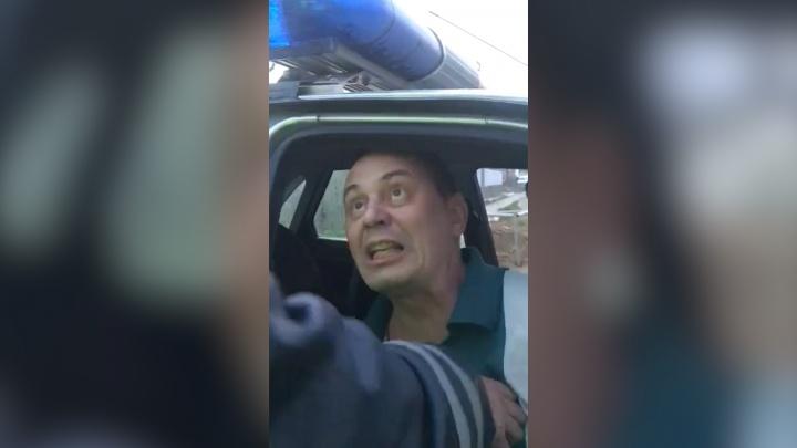 «Сломаю вас всех!»: на Южном Урале пойманный пьяным силовик устроил разборки с ДПС