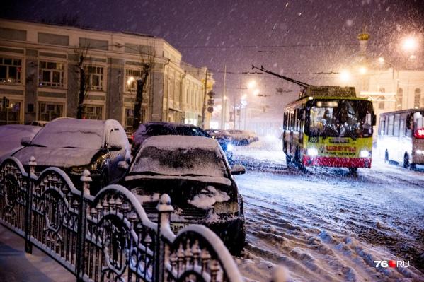 В Ярославле ожидаются осадки в виде мокрого снега и снега с дождём
