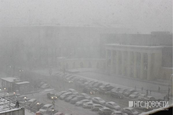 В период с 11 по 12 января на город обрушится метель, сильный ветер и мокрый снег