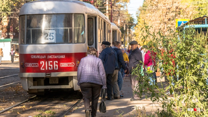 В Самаре трамвай № 25 перестанет ходить к Барбошиной Поляне